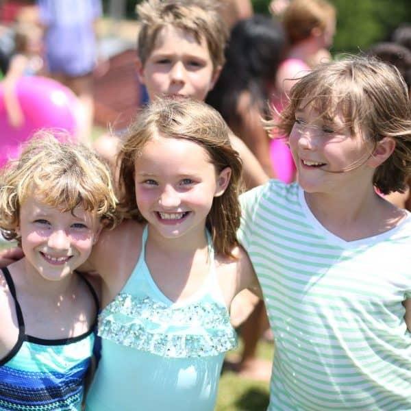 Kids Camp girls having fun outside at Shepherd's Fold Ranch