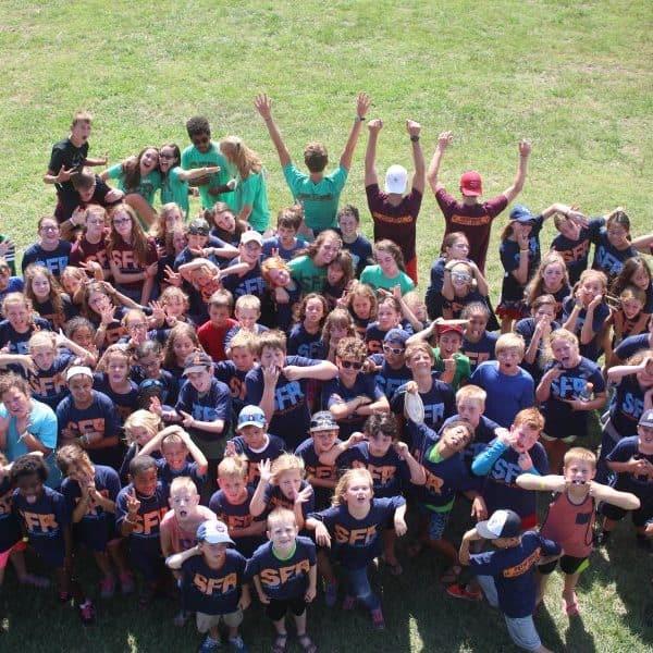 Kids having fun at summer camp