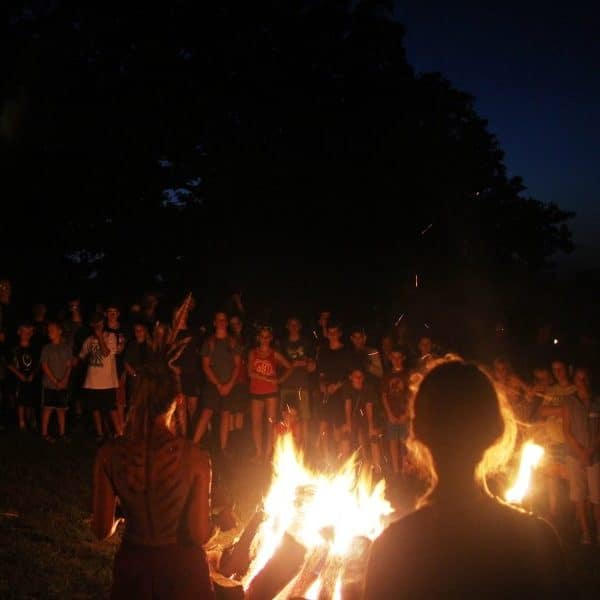 Summer camp night activities at Shepherd's Fold Ranch include a night orientation.