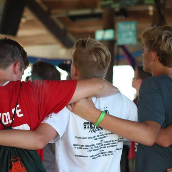 Youth Camps: Guys worshiping God together at Shepherd's Fold Ranch