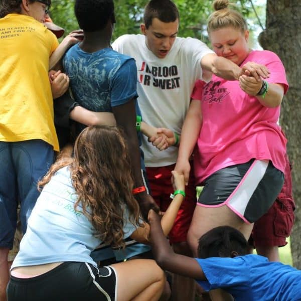 Oklahoma Summer Camp Shepherd's Fold Ranch Forerunner Team building exercise