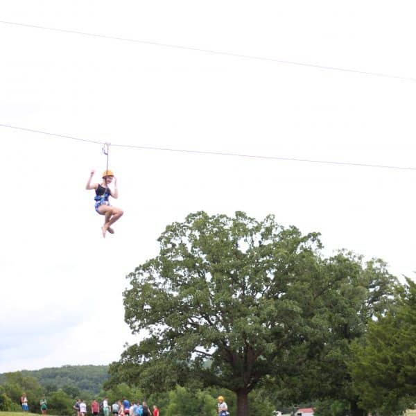 Fast ziplines at Summer Camp Shepherd's Fold Ranch