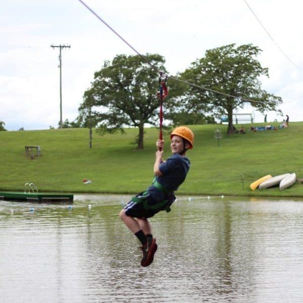 Zipline at Camps in Oklahoma. Shepherd's Fold Ranch has as great zipline