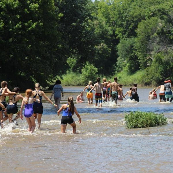 Christian Camp Shepherd's Fold Ranch has campers playing in Bird Creek, Oklahoma